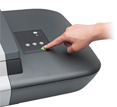 iFlex Hand on Scan Button